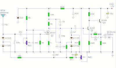 Active AM Radio Antenna Amplifier / Preamplifier Circuit
