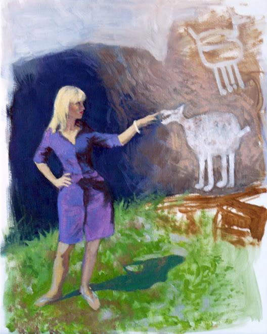 Cécile et le chien préhistorique