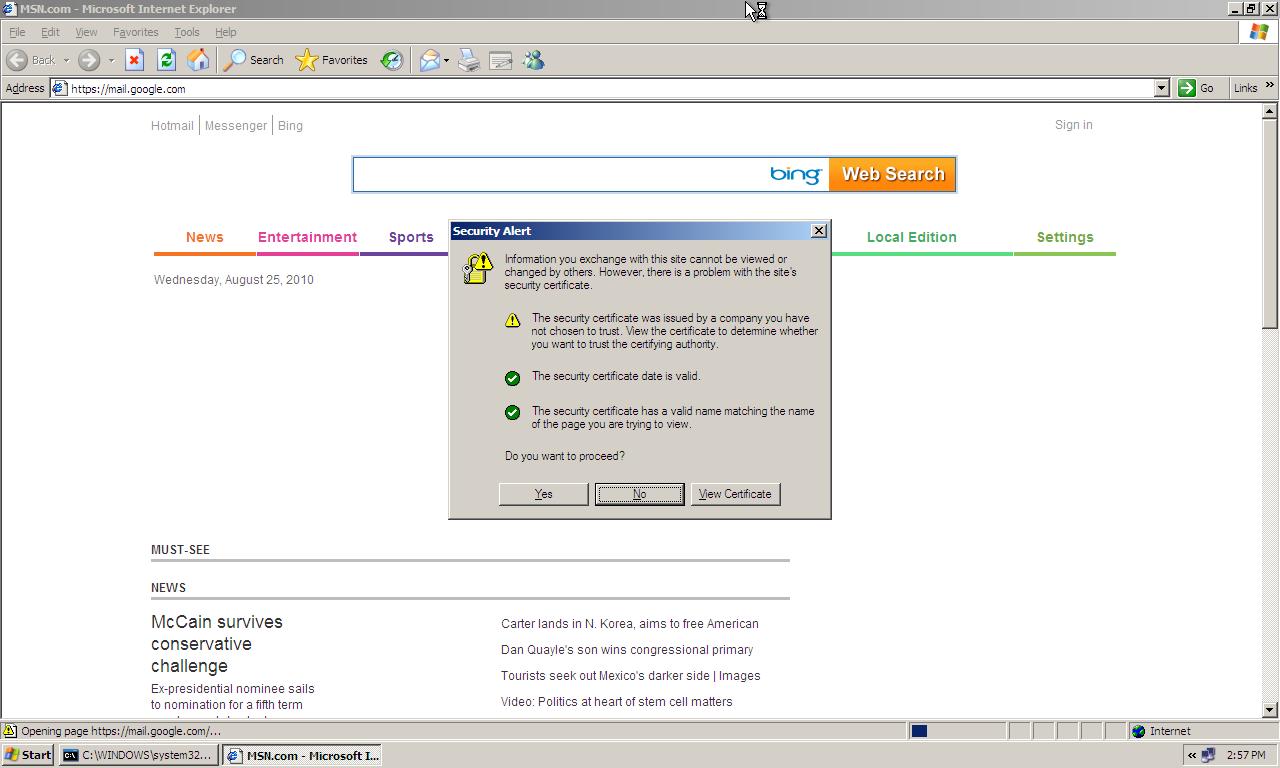 Random ramblings ssl mitm attack using ettercap ie ssl certificate error xflitez Gallery