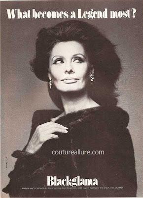 1982 Blackglama mink fur coat Sophia Loren