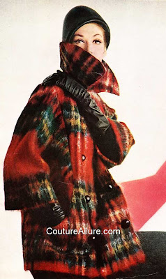 1960s plaid coat