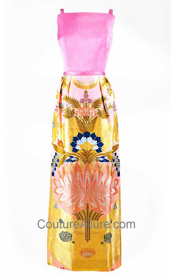 jacqueline kennedy, Joan Morse evening gown, silk brocade