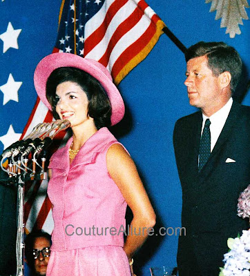 jacqueline kennedy, pink hat, mexico