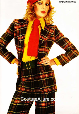 vintage plaid suit, 1972