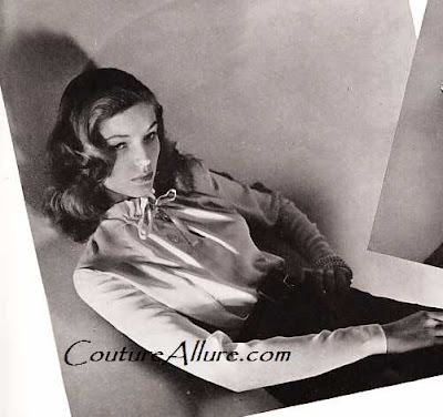 lauren bacall, bazaar 1943
