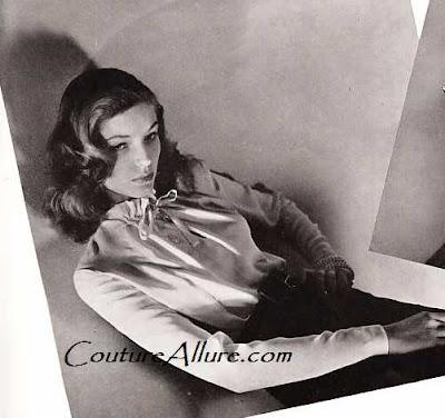 lauren bacall, bazaar 1943