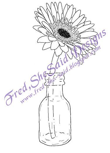 Gerbera daisy coloring pages