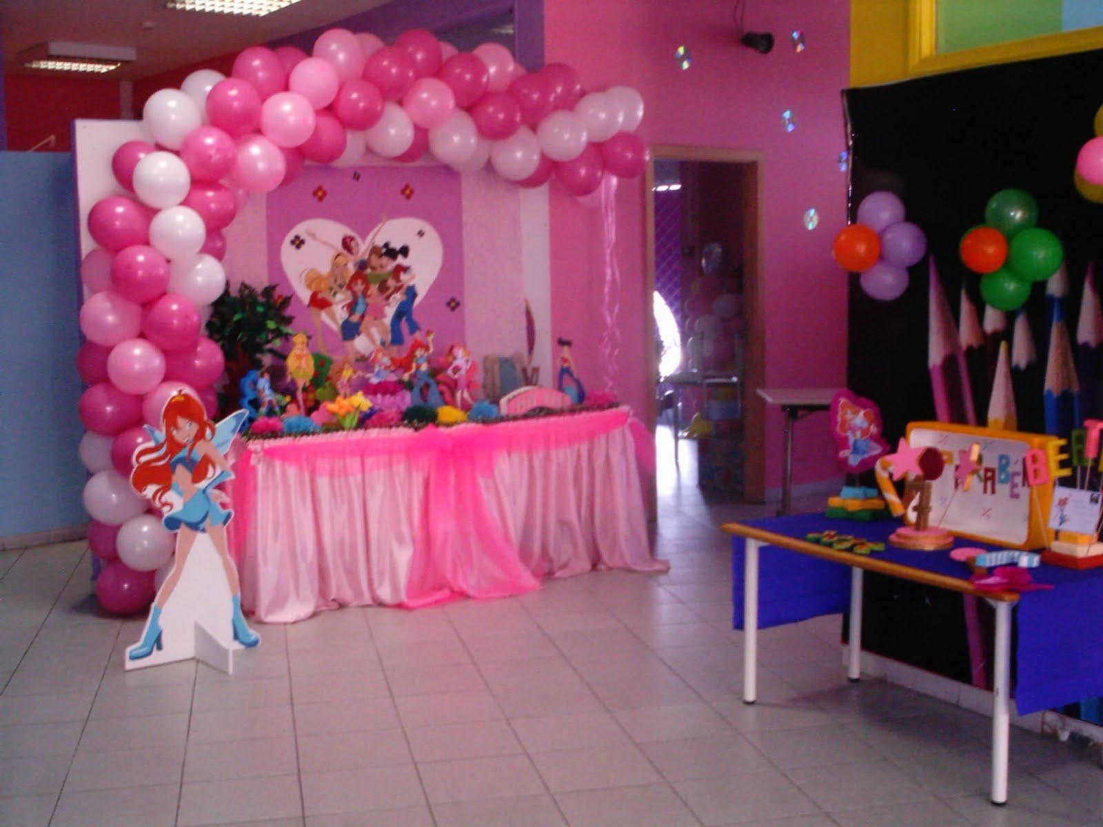 decoracao festa winx:decoracoes festas aniversario: Festa de Aniversario das Winx