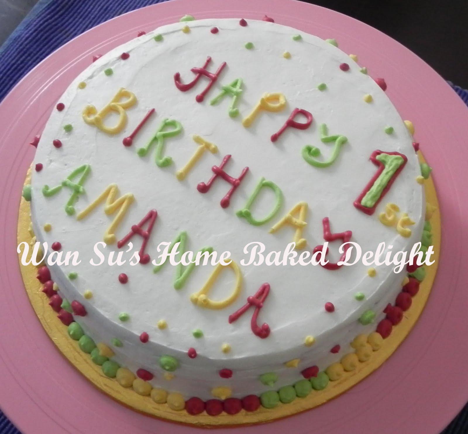 Happy 1st Birthday Amanda Cupcakes Cakes Muffin