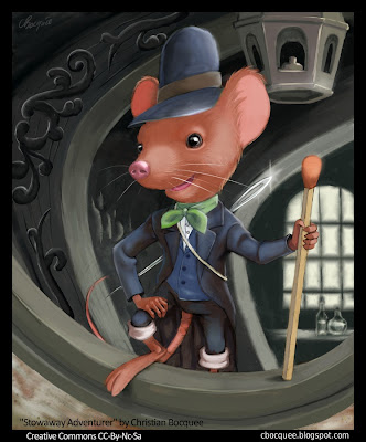 Anthro mouse character digital fantasy illustration