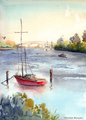 Australian watercolour painting
