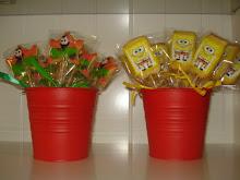 Cubos con cookies Bob Esponja