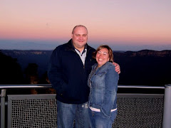 Jen and Scotty at the Three Sisters in the Blue Mountains