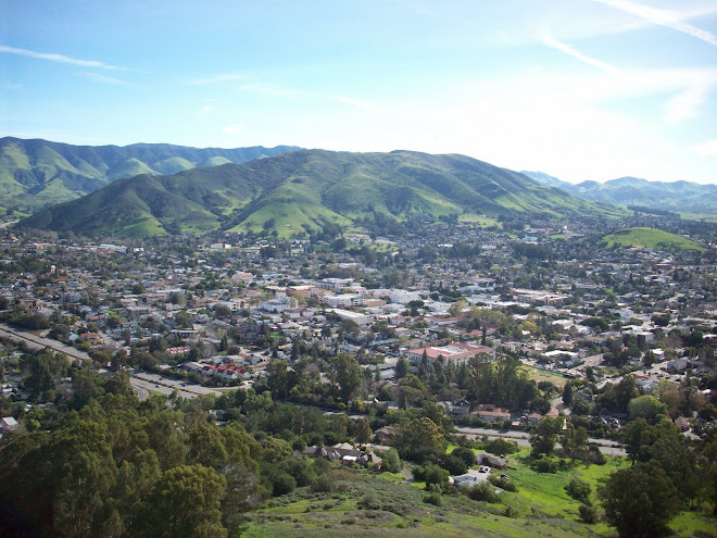 San Luis Obispo City from Madonna Mountain