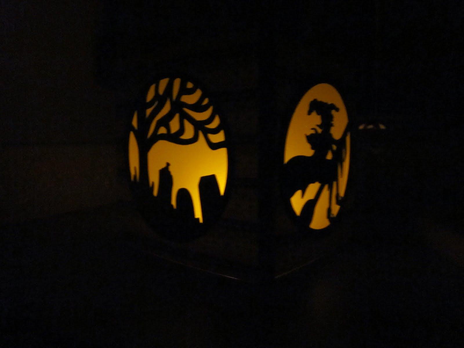 Paper scissors ink pumpkin carving lanterns with