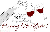 New Year Champagne Wishes