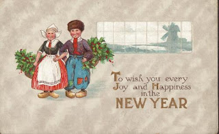 antique postcard for new year