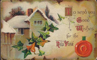 Antique Victorian New Year Postcard