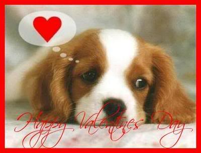 Puppy Wishing Happy Valentines Day Puppy Valentine Day Cards