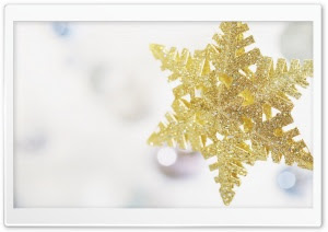 new year gold snowflake