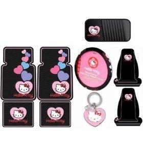 Sanrio Hello Kitty Car Accessories Combo Set