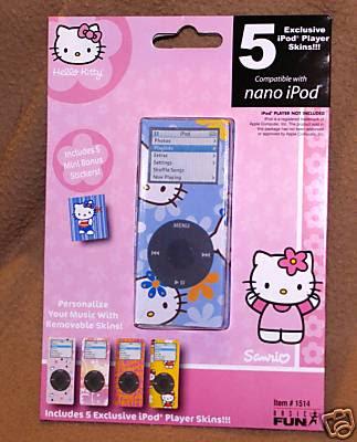 5-in-1 Hello Kitty Ipod Nano Skin Case