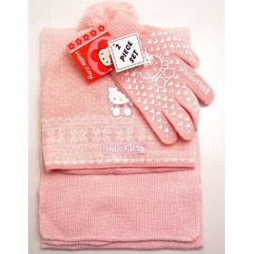 Hello Kitty Beanie Glove Set OnlyPrice is $12.xx