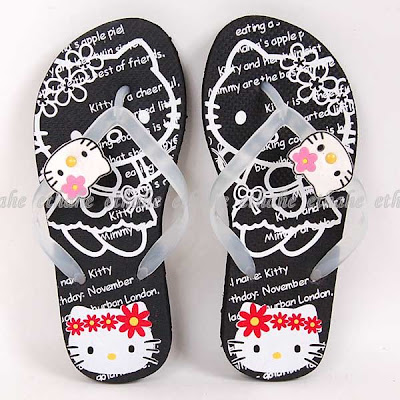 Hello Kitty Thong Flip Flops Slippers