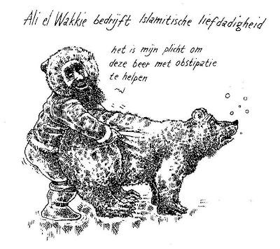 Ali el Wakkie bedrijft Islamitische liefdadigheid (Gregorius Nekschot)