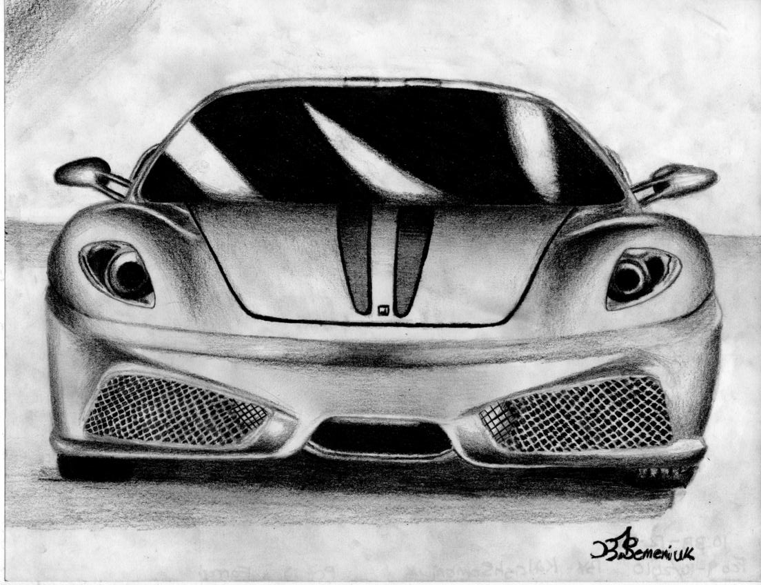 Displaying (20) Gallery Images For Ferrari Drawings In Pencil...