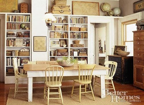 Vignette design home libraries for Dining room library