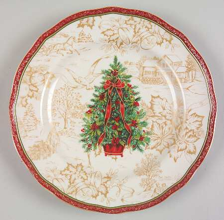 Christmas in the Park by China & vignette design: Setting the Table with Christmas Dinnerware