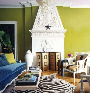 vignette design: Decorating with Green