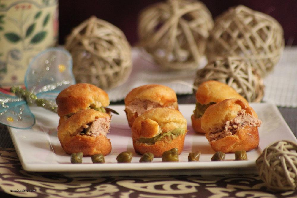 Cuisine de claire petits choux au guacamole et rillettes - Rillette de thon maison ...