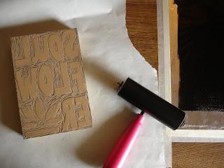 printing2 - Process: New Soul Flower Block Print Tee!