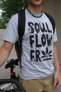 bikeboy - Process: New Soul Flower Block Print Tee!