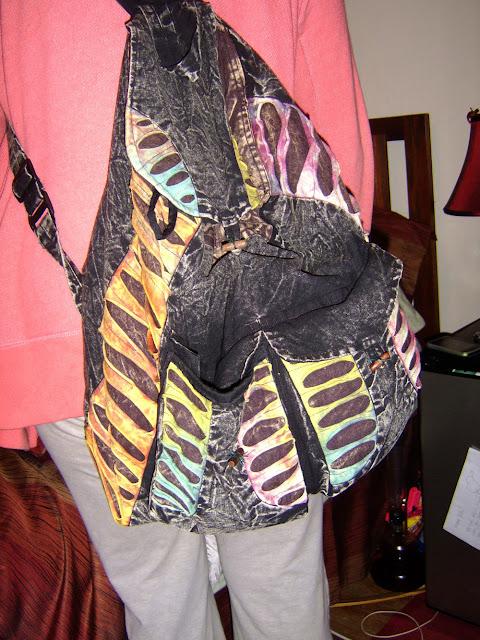 tie dye hippie backpack