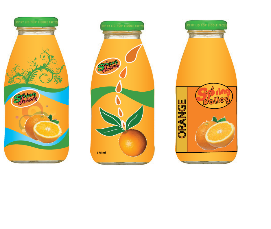 Nick's Graphic Blogs: My Spring Valley Juice new bottle label
