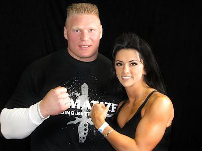 Brock Lesnar with ex-fiance Nicole McClain