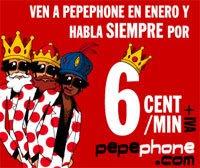 pepephone se viste de reyes magos para celebrar las tarifas de enero 2009