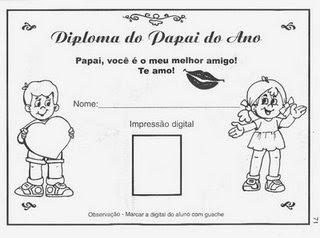 Diploma+do+Papai+1 Atividades para o dia dos pais para crianças