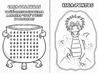 Atividades para imprimir sobre Folclore para crianças