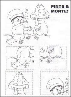 FOLCLORE x Atividades para imprimir sobre Folclore para crianças