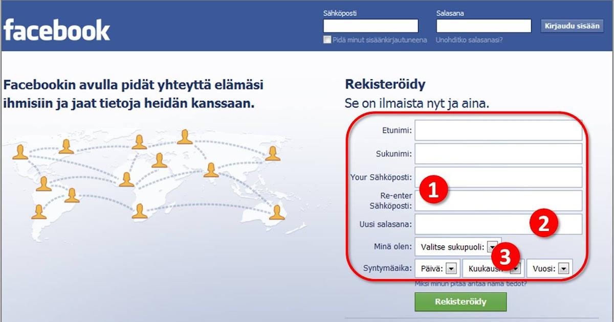 facebook sähköposti kirjautuminen