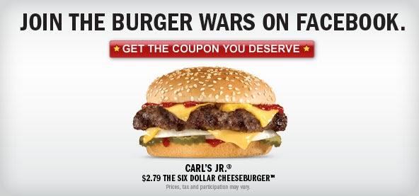 ... Carl's Jr. Six Dollar Cheeseburger For $2.79 - Burger Battle Round III