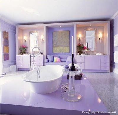 The zhush monday39s pop of purple plus for Drakes bathrooms