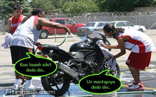 gosok dada motosikal raba