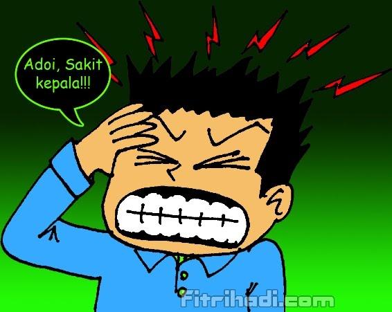 gambar sakit kepala pening