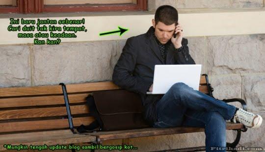 cari jana pendapatan sampingan wang poket update blog