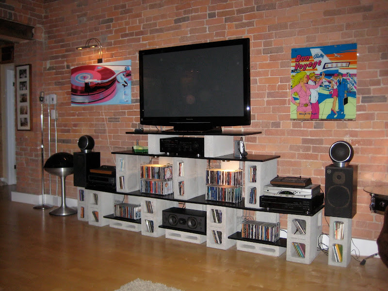 Cinder Block Entertainment Center